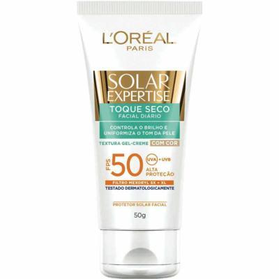 Imagem 1 do produto Protetor Solar L'Oréal Expertise Facial Toque Seco com Cor FPS 50  50g