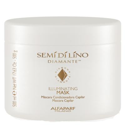 Illuminating Mask Semí Dí Lino Diamante Alfaparf - Máscara Capilar - 500g