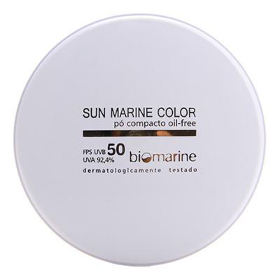 Imagem 1 do produto Po Compacto Biomarine Sun Marine Color FPS 50 - Po Compacto Biomarine Sun Marine Color FPS 50 12g - 84 Chocolate