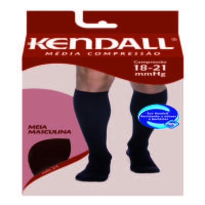 Imagem 1 do produto Meia Panturrilha Masculina 18-21 Media Kendall - PRETO PONTEIRA FECHADA P KENDAL