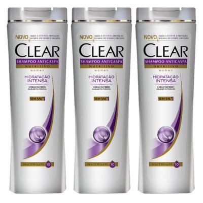 Kit 3 Shampoo Clear Hidratação Intensa 200ml