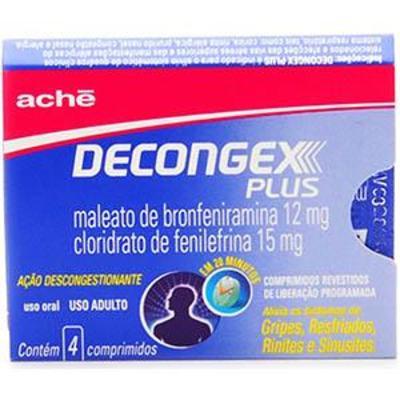 Imagem 1 do produto Decongex Plus 4 comprimidos