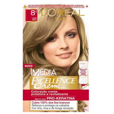 Imagem 1 do produto Tintura Imédia L'Oréal 8.1 Louro Sueco