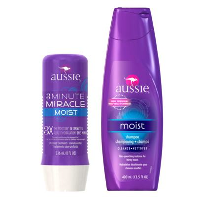 Kit Shampoo + Máscara de Hidratação Aussie Moist - Kit
