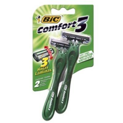 Imagem 1 do produto Aparelho de Barbear Bic Comfort 3 Pele Sensível 2 Unidade