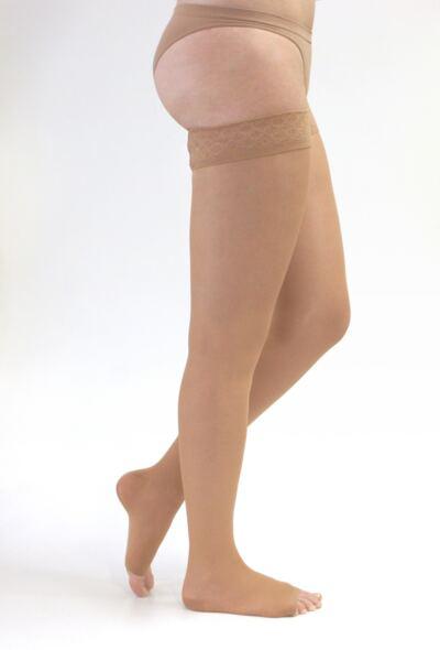 Imagem 1 do produto Meia Coxa 20-30 mmHg Sheer & Soft Medi - NATURAL I PONTEIRA ABERTA