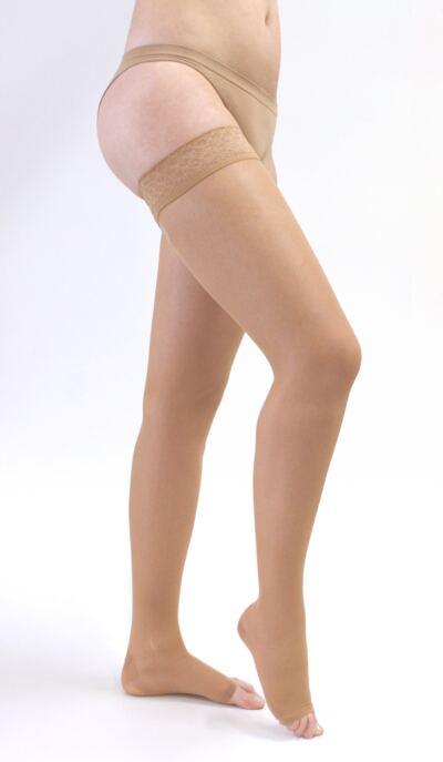 Imagem 2 do produto Meia Coxa 20-30 mmHg Sheer & Soft Medi - NATURAL V PONTEIRA ABERTA