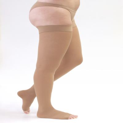 Imagem 1 do produto Meia Coxa 20-30 mmHg Assure Medi - BEGE M PONTEIRA ABERTA