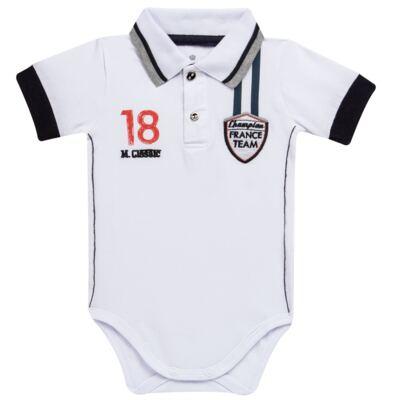 Imagem 1 do produto Body polo para bebe em cotton Racing - Mini & Classic - BDBP669 BODY POLO COTTON GRAND PRIX-P