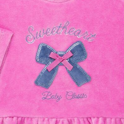 Imagem 3 do produto Bata c/ Calça para bebe em plush Sweetheart - Baby Classic - 976891.186 CONJUNTO BATA COM CALÇA PLUSH PINK-M