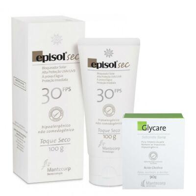 Imagem 1 do produto Kit Protetor Solar Episol Sec FPS30 Loção 100g + Sabonete em Barra Glycare 90g