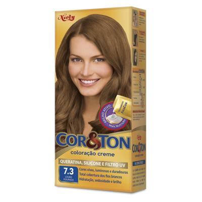 Imagem 1 do produto Coloração Creme Cor & Ton Louro Dourado 7.3 -