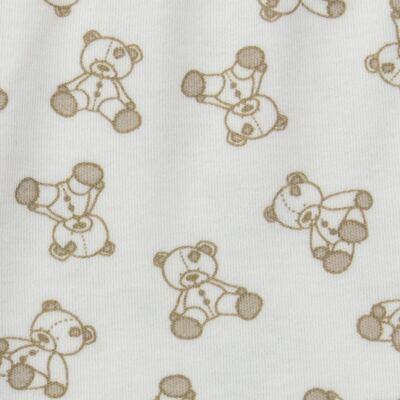 Imagem 5 do produto Body longo c/ Calça para bebe em suedine Ivory Bear - Dedeka - DDK16501/E100 Conjunto de Body Suedine Urso Bege -M