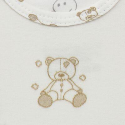 Imagem 3 do produto Body longo c/ Calça para bebe em suedine Ivory Bear - Dedeka - DDK16501/E100 Conjunto de Body Suedine Urso Bege -G