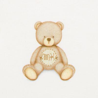 Imagem 3 do produto Body longo c/ Calça (mijão) para bebe  em suedine Naturé - Baby Classic - BC51.200 CONJ. BODY ML COM MIJAO SUEDINE URSINHOS-P