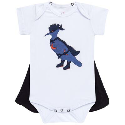 Imagem 1 do produto Body curto c/ Capa para bebe Justiceiro - Reserva Mini - RM23182 MACAQUINHO BB C CAPA PICA PAU JUSTICA-P