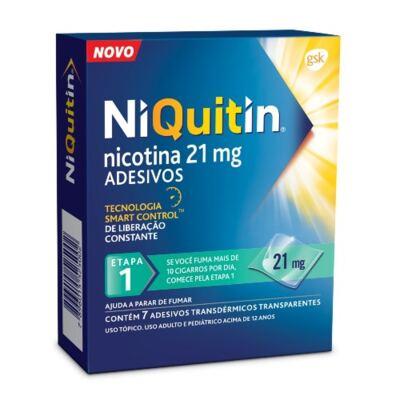 Imagem 2 do produto Kit Niquitin 21mg 21 Adesivos Transparentes