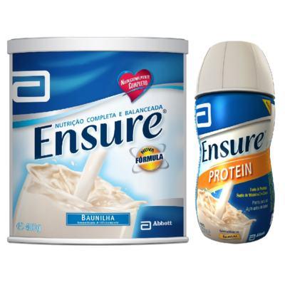 Complemento Alimentar Ensure Baunilha 400g + Ensure Protein Baunilha 220ml - Complemento Alimentar Ensure Baunilha 400g + Ensure Protein Baunilha 220ml