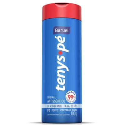Imagem 2 do produto Kit Tenys Baruel Pé Talco Desodorante Original 100g + Talco Desodorante Barcelona 100g