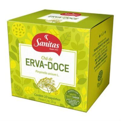 Imagem 1 do produto Chá de Erva-Doce Sanitas 10 Sachês