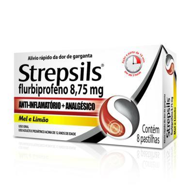 Imagem 1 do produto Strepsils Sabor Mel e Limão 8 pastilhas - 100ml