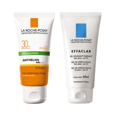 Protetor Solar Anthelios Fps 30 + Gel de limpeza facial Effaclar