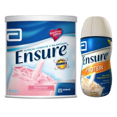 Complemento Alimentar Ensure Morango 400g + Ensure Protein Baunilha 220ml