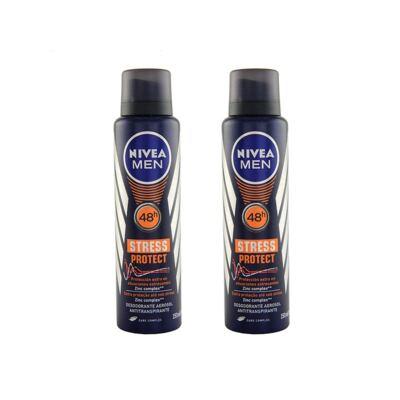 Desodorante Nivea Stress Protect Masculino Aerosol 90g 2 Unidades