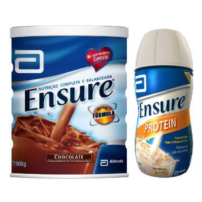 Imagem 1 do produto Complemento Alimentar Ensure Chocolate 900g + Protein Baunilha 220ml