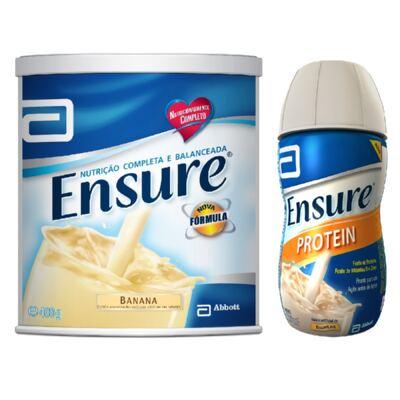 Imagem 1 do produto Complemento Alimentar Ensure Banana 400g + Protein Baunilha 220ml