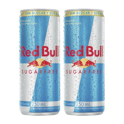 Kit Energético Red Bull Sugar Free 250ml 2 Unidades