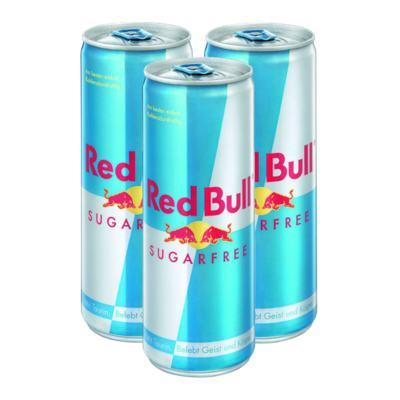Imagem 1 do produto Kit Energético Red Bull Sugar Free 250ml 3 Unidades