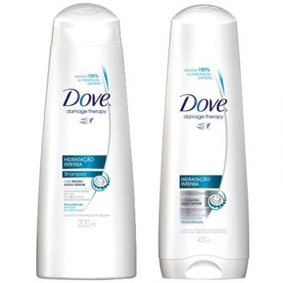 Shampoo + Condicionador Dove Hidratação Intensa 400ml