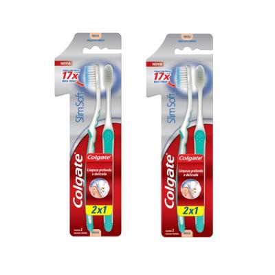 Escova Colgate Cabo Ultra comprimido Leve 2 Pague 1 - 2 Packs