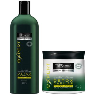 Kit Tresemmé Detox Shampoo 400ml + Creme de Tratamento 400g