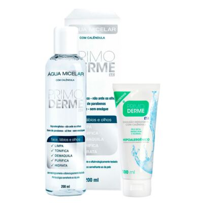 Imagem 1 do produto Kit Água Micelar Primoderme Calêndula 200ml + Primoderme Emulsão Hidratante Calêndula 100ml