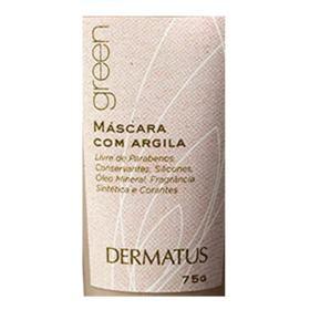 Green Máscara com Argila Dermatus - Máscara Facial - 75g