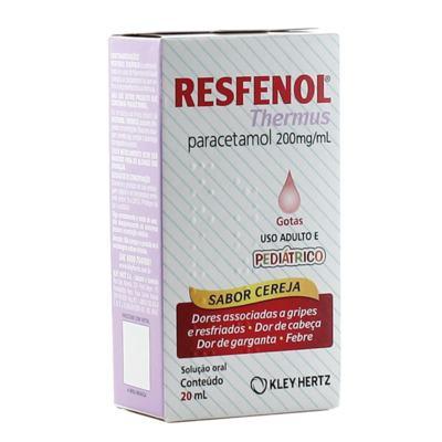 Imagem 1 do produto Resfenol Thermus Gotas Sabor Cereja Adulto e Pediátrico 20ml -