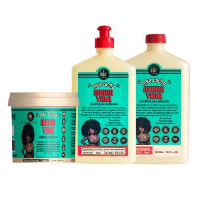 Imagem 1 do produto Lola Cosmetics Meu Cacho Minha Vida  Kit - Shampoo + Creme de Pentear + Máscara Hidratante - Kit