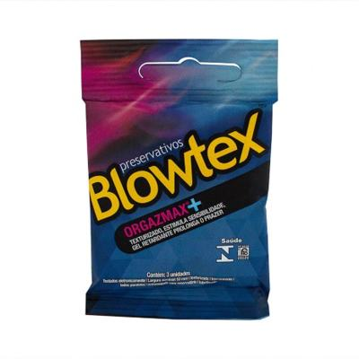 Preservativo Blowtex Sachês Orgazmax Lubrificado - Com Espermicida | 3 unidades