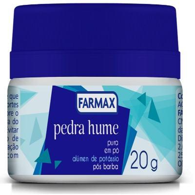 Pedra Hume Pura Pó Farmax 20g