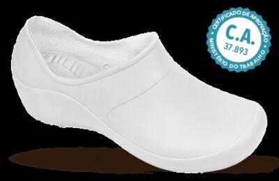Imagem 1 do produto Sapato Profissional Feminino Mary Branco Boa Onda - 40