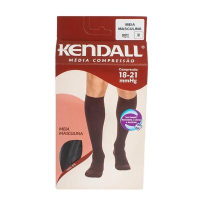 Imagem 1 do produto MEIA PANTURRILHA MASCULINA 18-21 MEDIA KENDALL - PRETO PONTEIRA FECHADA M KENDAL