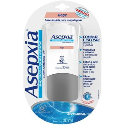 Asepxia Maquiagem Líquida Antiacne Bege 30ml