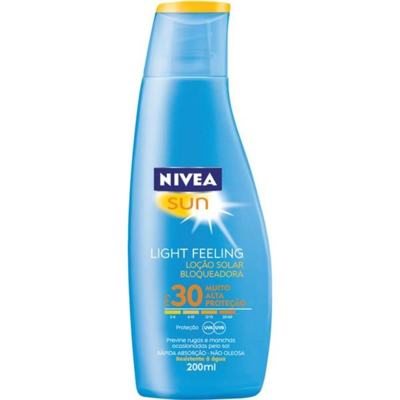 Protetor Solar Loção Nivea 200 mL Fps30 Light Feeling