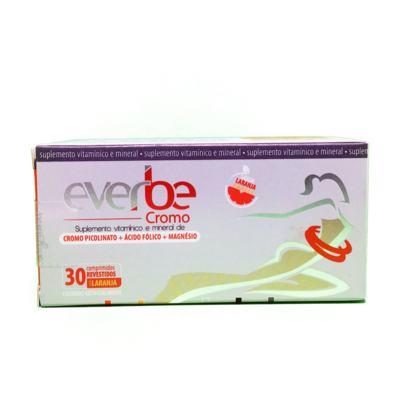 Everbe Cromo - Sabor Laranja | 30 comprimidos revestidos