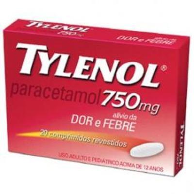Imagem 1 do produto Tylenol 750mg 20 comprimidos