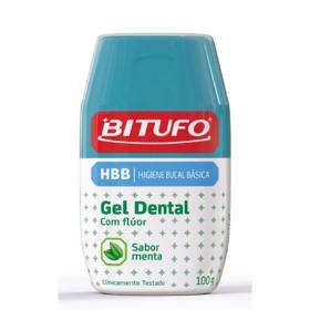 Gel Dental Bitufo com Flúor Sabor Menta 100g