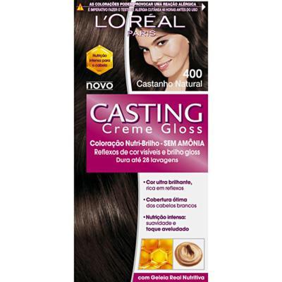 Imagem 1 do produto Tintura L'Oréal Casting Gloss 400 Castanho Natural