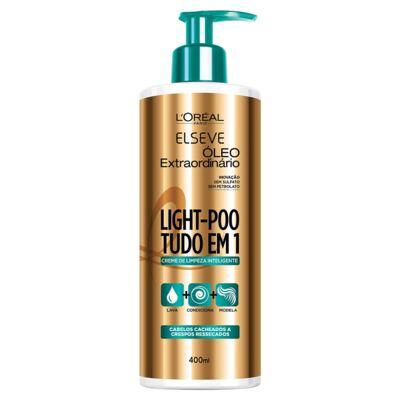 Imagem 1 do produto Creme de Limpeza Inteligente Elseve Light-Poo Óleo Extraordinário 400ml